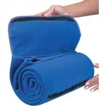 roll up fleece blanket with handle