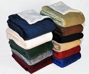 wholesale sherpa fleece blankets