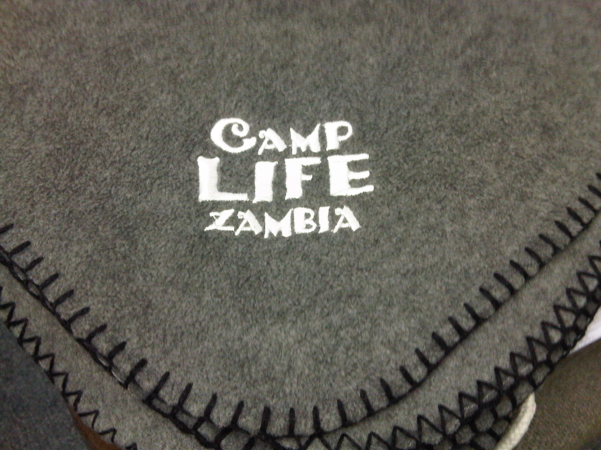 camp life fleece blanket