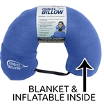 Travel billow neck pillow and blanket