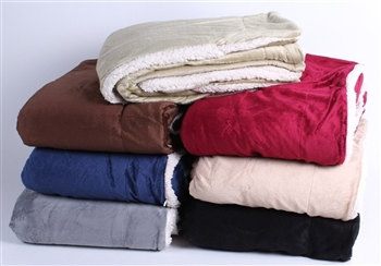 wholesale large sherpa fleece blanket